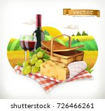 time for a picnic  nature ... | Shutterstock .eps vector #726466261