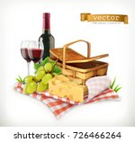 time for a picnic  nature ... | Shutterstock .eps vector #726466264