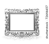 isolated decorative frame over... | Shutterstock . vector #72646657