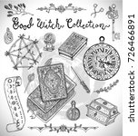 hand drawn collection with... | Shutterstock .eps vector #726466891