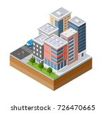 urban isometric area of the... | Shutterstock .eps vector #726470665