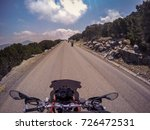 Pov Ridding A Motorcycle On A...