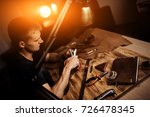 working process of the leather... | Shutterstock . vector #726478345
