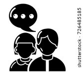 people conversation icon.... | Shutterstock .eps vector #726485185