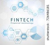 fin tech internet concept. text ... | Shutterstock .eps vector #726486181