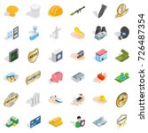 place icons set. isometric... | Shutterstock .eps vector #726487354