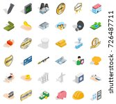 building icons set. isometric... | Shutterstock .eps vector #726487711