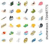 hospital icons set. isometric... | Shutterstock .eps vector #726487771