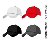 cap mock up design | Shutterstock .eps vector #726496051