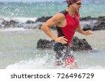 triathlon swimming man... | Shutterstock . vector #726496729
