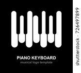 piano keyboard logo. music... | Shutterstock .eps vector #726497899