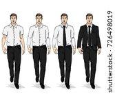 vector set of sketch men models.... | Shutterstock .eps vector #726498019