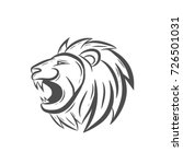 line art brush roaring lion | Shutterstock .eps vector #726501031