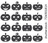 halloween pumpkin icon set.... | Shutterstock .eps vector #726501814