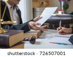 business lawyer working about... | Shutterstock . vector #726507001