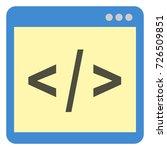 Stock vector vector single color flat icon programming source code 726509851
