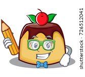 student with pencil pudding... | Shutterstock .eps vector #726512041