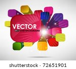 3d abstract colorful background ... | Shutterstock .eps vector #72651901