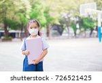 healthcare   girl wearing a... | Shutterstock . vector #726521425