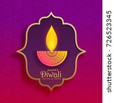 premium creative diwali diya... | Shutterstock .eps vector #726523345