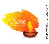 happy diwali festival... | Shutterstock .eps vector #726523615