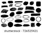 vector black paint  ink brush...   Shutterstock .eps vector #726525421