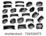vector black paint  ink brush... | Shutterstock .eps vector #726526075