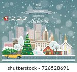 merry christmas and happy new... | Shutterstock .eps vector #726528691