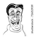 """cartoon hansom """"nice guy"""" illustration - stock vector"""