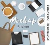mockup set collection coffee... | Shutterstock .eps vector #726529855