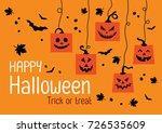 happy halloween day  halloween...   Shutterstock .eps vector #726535609