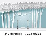 paper art landscape of... | Shutterstock .eps vector #726538111
