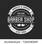 vintage barber shop logo and... | Shutterstock .eps vector #726538369