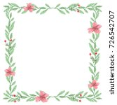 watercolor flower traditional... | Shutterstock . vector #726542707
