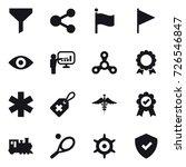 16 vector icon set   funnel ... | Shutterstock .eps vector #726546847