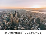 new york city skyline with...   Shutterstock . vector #726547471