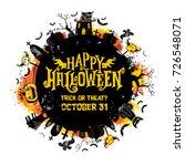 halloween vector round card....   Shutterstock .eps vector #726548071