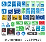 handicap labels and signs ... | Shutterstock .eps vector #726549619