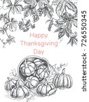 greeting card with thanksgiving.... | Shutterstock .eps vector #726550345