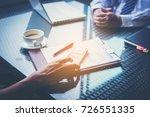 business team working on... | Shutterstock . vector #726551335