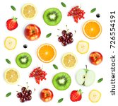 fruits  pattern. background of... | Shutterstock . vector #726554191