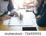 team of businessmen working... | Shutterstock . vector #726555931