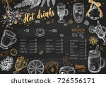 hot drinks winter menu. design... | Shutterstock .eps vector #726556171
