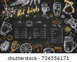 hot drinks winter menu. design... | Shutterstock .eps vector #726556171