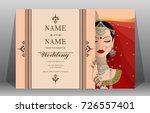indian wedding invitation card... | Shutterstock .eps vector #726557401