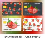 design for credit card with... | Shutterstock .eps vector #726559849