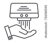 hand dryer vector line icon ... | Shutterstock .eps vector #726560545