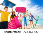 group of happy kids came to... | Shutterstock . vector #726561727