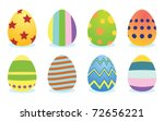 set of color easter eggs | Shutterstock .eps vector #72656221