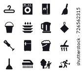 16 vector icon set   hanger ... | Shutterstock .eps vector #726562315